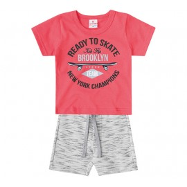 Conj. Verão Skate Para Bebê