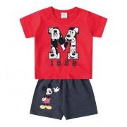 Conjunto Bermuda e Camiseta Disney Baby Mickey Menino G 9-12 Meses