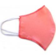 Máscara de Proteção Anatômica Lavável Malha Dupla Face 100% Algodão Vermelho Claro