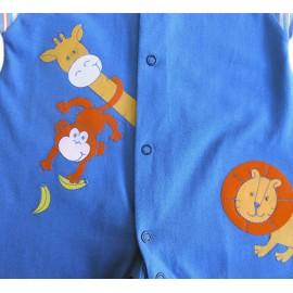 Macacão de Bebê Safári Azul