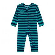 Macacão Bebê Leão Plush Listrado Verde e Marinho com Zíper Brandili Baby Menino