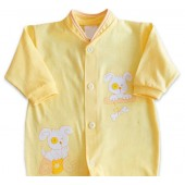 Macacão de Bebê Amarelo Unissex Cachorro
