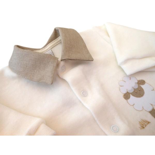Macacão de Bebê Ovelha Plush Bege Unissex