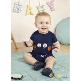 Macacão de Bebê Verão Brandili Baby Siri Marinho
