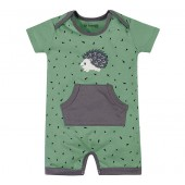 Macacão de Bebê Verão Brandili Porco Espinho Roupa Sustentável