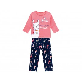 Pijama Infantil Malha Manga Longa Lhamas Menina Brandili 1-3/4-8 Anos