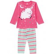 Pijama Infantil Manga Longa Ovelha Brandili Menina 3 Anos