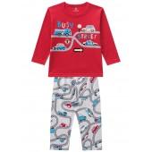 Pijama Infantil Brandili Menino Carros