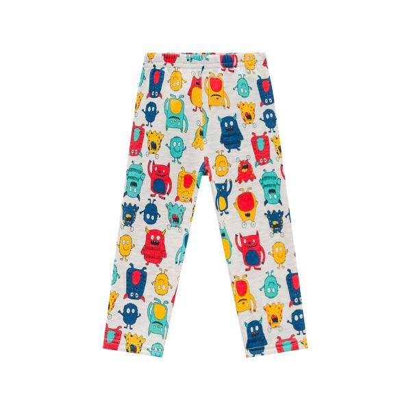 Pijama Infantil Inverno Moletom Flanelado Menino Brandili Monstrinhos 1-3/4-8 Anos