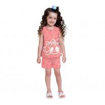 Pijama Infantil Que Brilha no Escuro Verão Panda Unicórnio Menina Brandili