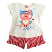 Pijama Infantil Que Brilha no Escuro para Menina