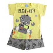 Pijama Infantil Que Brilha no Escuro Menino