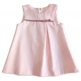 Salopete Infantil Veludo Rosa