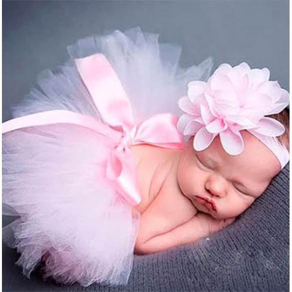 ca45b34460 Tutu Saia de Bailarina para Bebê Ensaio Fotográfico