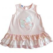 Vestido para Bebê Chicco Babadinho Floral 3 Meses