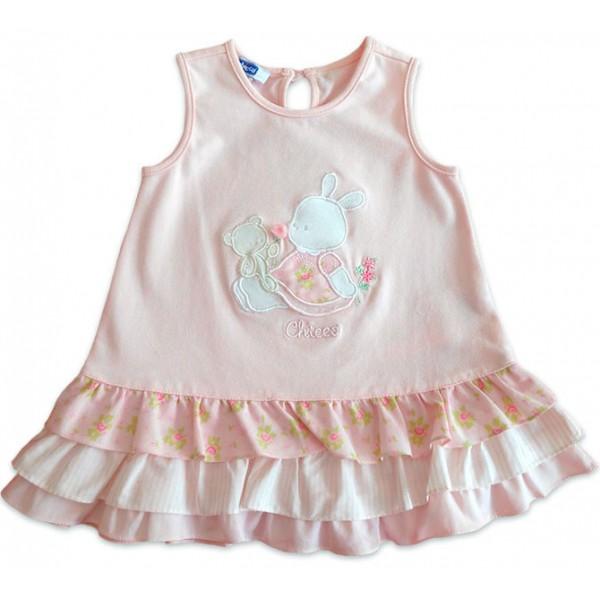 Vestido para Bebê Chicco Babadinho Floral