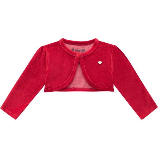 Vestido Bebê Cinza Circo com Casaquinho Plush Vermelho Menina Brandili