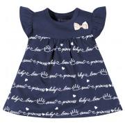 Vestido Bebê com Calcinha Princesa Menina Brandili Azul Marinho GG