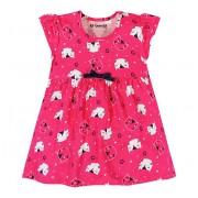 Vestido Bebê Gatinhos Menina Brandili Vermelho G 9-12 Meses