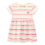Vestido Bebê Verão Listrado Rosa Peixinho Brandili Menina P-M-G