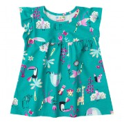 Vestido Bebê Bichinhos do Zoológico