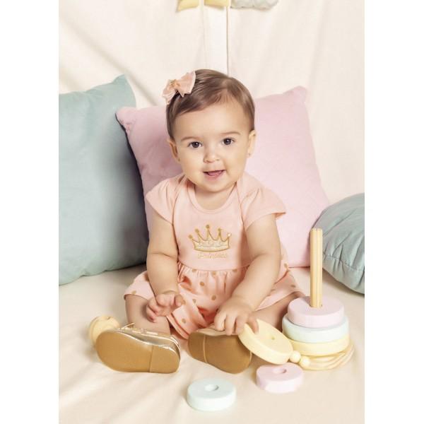 Vestido Body para Bebê Princesa Menina Brandili Azul Marinho RN