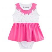 Vestido Body para Bebê Verão Fantasia Sorvete Menina Brandili