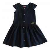 Vestido Jeans Infantil Manga Curta Serelepe Kids 1 / 2 Anos