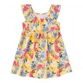 Vestido Infantil Floral Amarelo