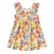 Vestido Infantil Floral Amarelo Brandili 3 Anos Menina
