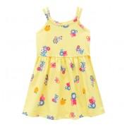 Vestido Infantil Amarelo Floral Alcinha Brandili Menina 1 Ano