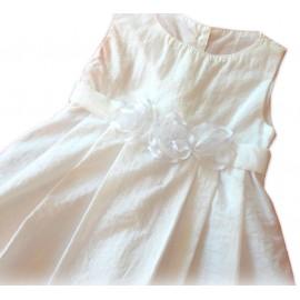 Vestido Longo Infantil Batizado Flores Balonê 1 Ano Menina