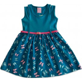 Vestido Infantil Borboletas