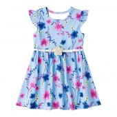 Vestido Infantil Brandili Floral Azul