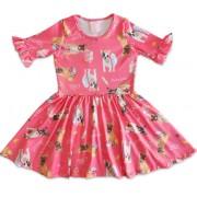 Vestido Infantil Cachorrinhos