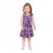 Vestido Infantil Brandili Verão Confeti Bolinhas Coloridas Menina 1-4 Anos