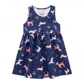 Vestido Infantil Cachorrinhos Brandili Menina 2 6 e 8 Anos
