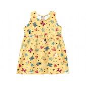 Vestido Bebê Amarelo Verão Floral Borboletas Menina Brandili