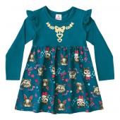 Vestido Infantil Bichinhos da Floresta Brandili