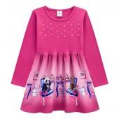 Vestido Infantil Manga Longa Ursinhos Pink Brandili Menina 4 6 8 Anos