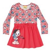 Vestido Infantil Turma da Mônica Brandili