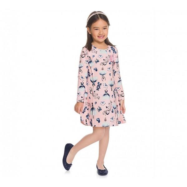 Vestido Infantil Bailarinas Brandili 8 Anos Menina