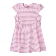 Vestido Infantil Listrado Rosa e Cinza Mundi Menina 2 Anos