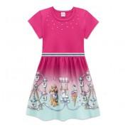 Vestido Infantil Verão Barrado Cachorrinho Poodle Brandili Menina 4-8 Anos