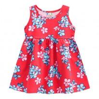 Vestido Infantil Floral Joaninhas Vermelho Menina Brandili 3 Anos