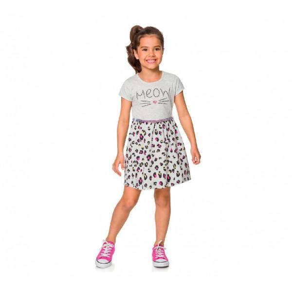 Vestido Infantil Oncinha Colorida 8 Anos