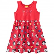 Vestido Infantil Turma da Mônica Brandili 3 Anos Menina