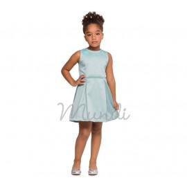 Vestido Infantil Off-White Cavado com Aplicação de Flores Mundi Menina 4 e 8 Anos
