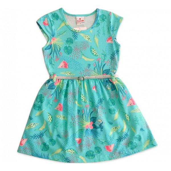 5dadf4c2e06ec9 Vestido Infantil Tucanos