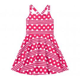 Vestido Pink Infantil Bolas